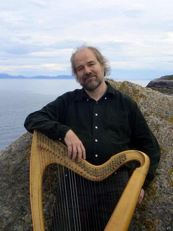 Thomas Loefke and harp