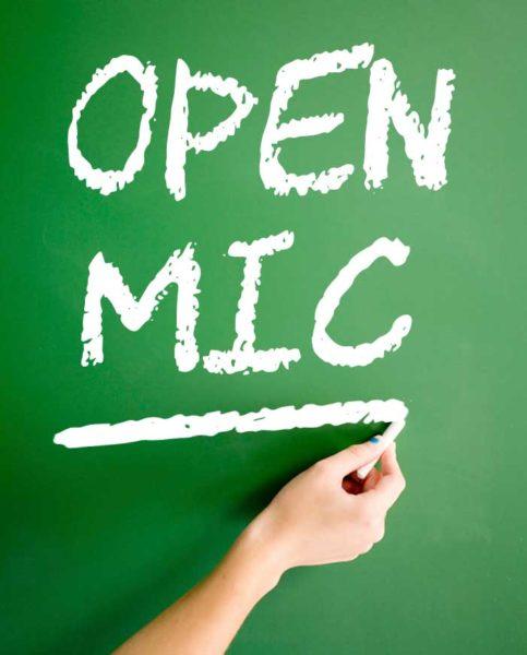 open mic chalkboard
