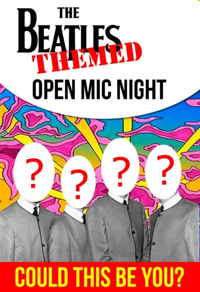 beatles themed open mic